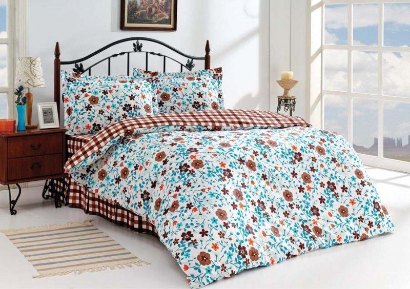 lenjerie de pat cu model floral